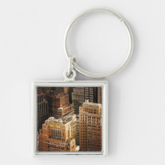 Tops of New York City Skyscrapers Keychain