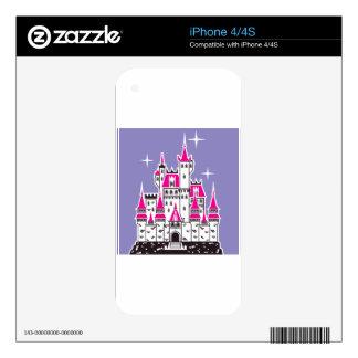 Tops rosados del castillo calcomanías para iPhone 4S