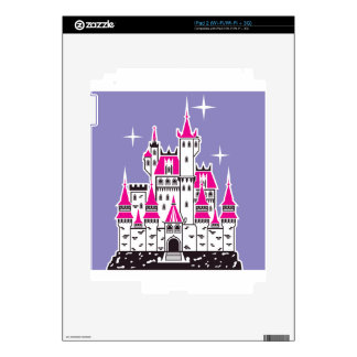 Tops rosados del castillo skins para eliPad 2