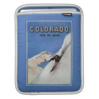 Tops the Nation - Skiing Promotional Poster iPad Sleeves