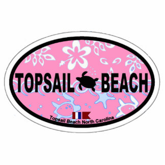 Topsail Beach. Acrylic Cut Out