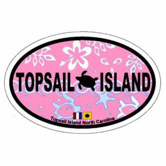 Topsail Island Oval Design. Cutout