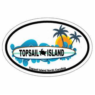 Topsail Island. Photo Sculpture Button
