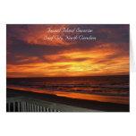Topsail Island Sunrise Photography Card