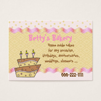 Topsy Turvy Cake Bakery Business Card