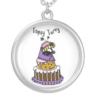 topsy turvy cake pendants