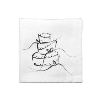 Topsy Turvy Wedding Cake - Cloth Napkins