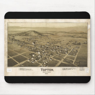 Topton Berks County Pennsylvania Map (1893) Mouse Pad