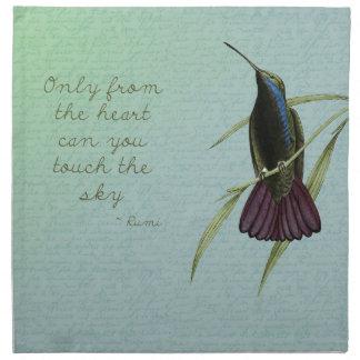 Toque el colibrí del cielo servilleta