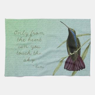 Toque el colibrí del cielo toallas de mano