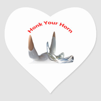 Toque la bocina a sus pegatinas del cuerno pegatina en forma de corazón