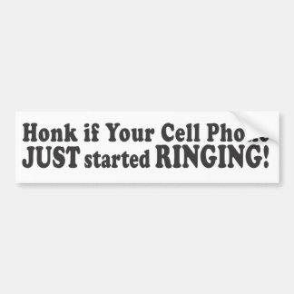 ¡Toque la bocina si su teléfono celular acaba de c Etiqueta De Parachoque