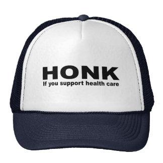 Toque la bocina si usted apoya atención sanitaria gorros bordados