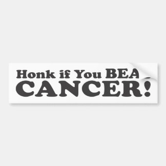 ¡Toque la bocina si usted batió al cáncer! - Pegat Pegatina De Parachoque
