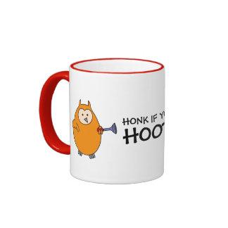 Toque la bocina si usted es búho de Hootie Tazas De Café