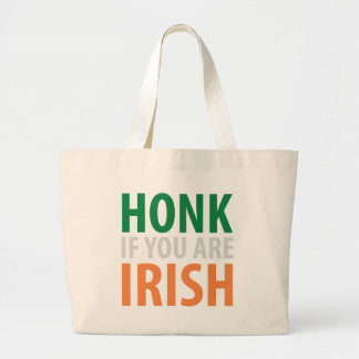 toque la bocina si usted es irlandés bolsa tela grande