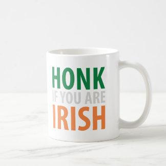 toque la bocina si usted es irlandés tazas de café