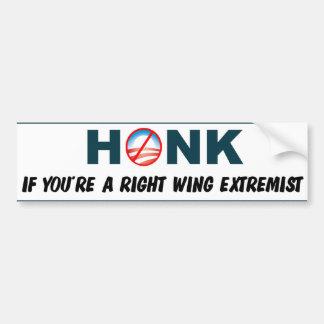 Toque la bocina si usted es un extremista de la de pegatina para auto