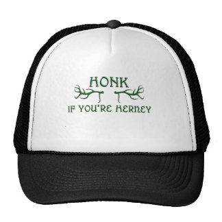 toque la bocina si usted es verde del herney gorra