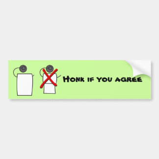 Toque la bocina si usted está de acuerdo etiqueta de parachoque