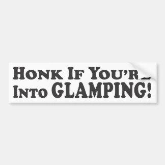 ¡Toque la bocina si usted está en Glamping! - Pega Pegatina De Parachoque