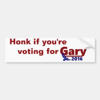 Toque la bocina si usted está votando por la pegatina para coche
