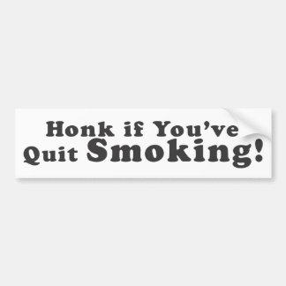 ¡Toque la bocina si usted ha abandonado fumar! - P Pegatina De Parachoque