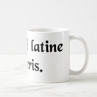 Toque la bocina si usted habla el latín tazas de café