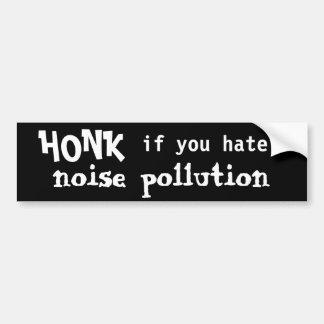 TOQUE LA BOCINA si usted odia la contaminación acú Pegatina De Parachoque