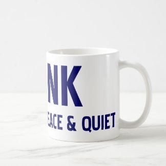 Toque la bocina si usted tiene gusto de paz y de t tazas de café