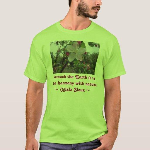 toque la camisa de Earth Hombre