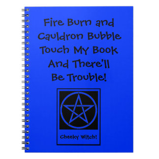 Toque mi libro y habrá libreta de Wiccan del probl