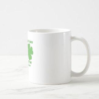 Toque mis encantos afortunados - obstruiré su… png tazas de café