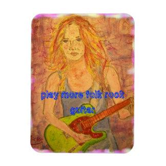 toque una guitarra más popular de la roca imán rectangular
