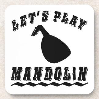 Toquemos la mandolina posavasos de bebidas