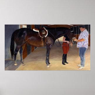 Toques finales caballo y poster del instructor