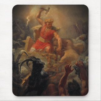 Tor Battles the Giants Mouse Pad