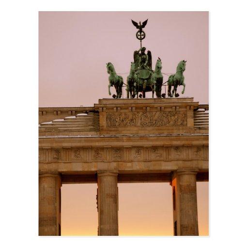 Tor de Berlín, Alemania - de Brandeburgo Tarjeta Postal