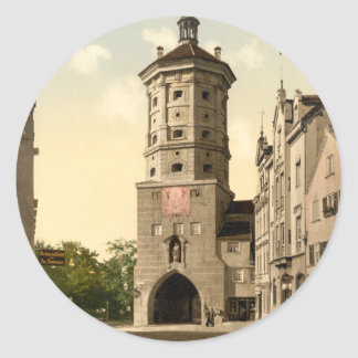 Tor de Wertachbrucker Augsburg Baviera Alemania Pegatina