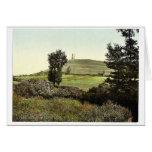 Tor Hill, Glastonbury, England rare Photochrom Card