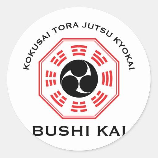 Tora Jutsu - Bushi Kai Pegatina Redonda