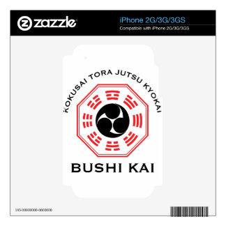 Tora Jutsu - Bushi Kai iPhone 3G Decal