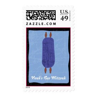 Torah Bar Bat Mitzvah Customizable Stamp Postage