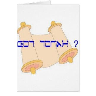 torah conseguido tarjeta de felicitación