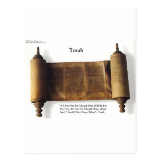 "Torah ""If Not For Myself"" Wisdom Quote Gifts & Tee Postcard"