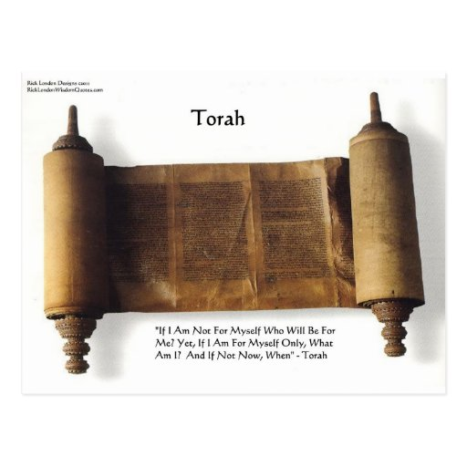 "Torah ""If Not For Myself"" Wisdom Quote Gifts & Tee Post Cards"