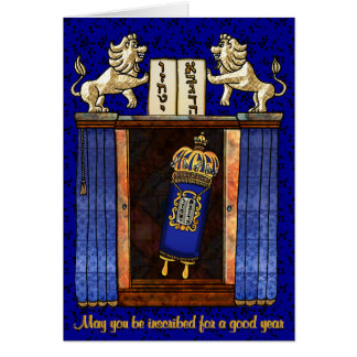 Torah In The Opened Ark Card