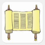 Torah Pegatina Cuadrada
