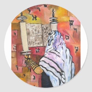 Torah Reading Classic Round Sticker