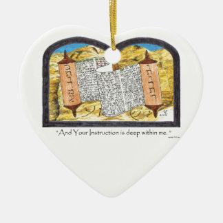 Torah Scroll Ceramic Ornament